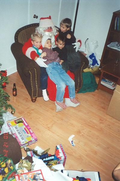 Les-cousins-et-le-père-Noël